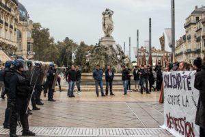 Dispositif policier face au rassemblement du 26 octobre, jour de l'anniversaire de la mort de Rémi Fraisse.