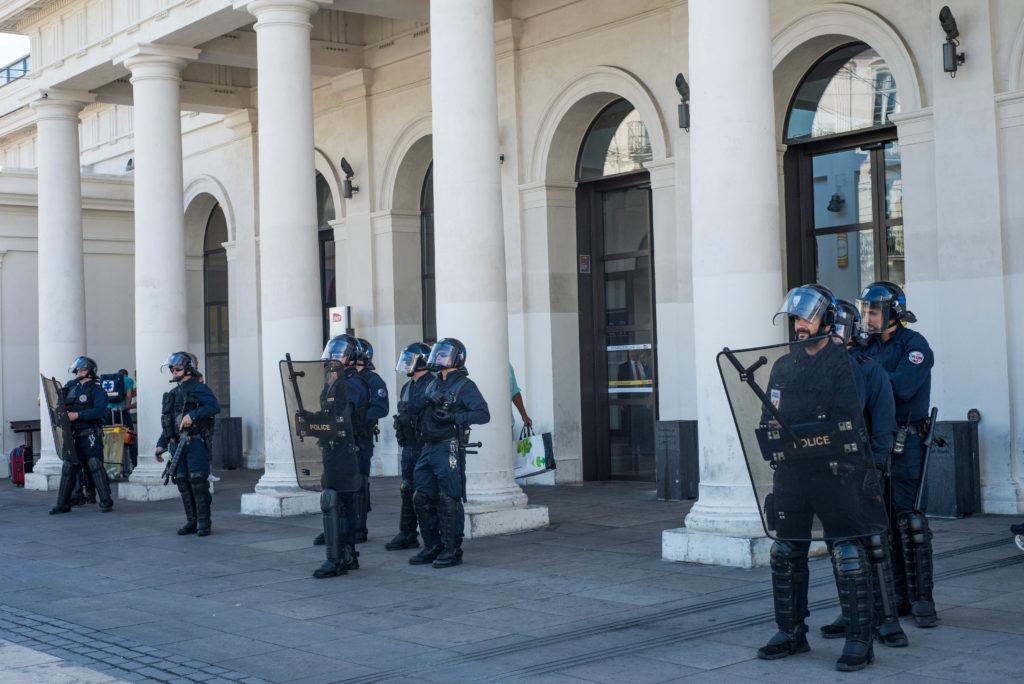 Les policiers et gendarmes sont restés relativement discrets.