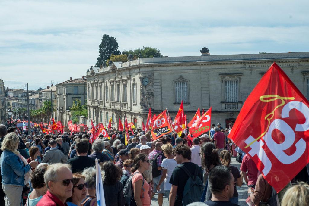 La CGT était présente en masse et plusieurs syndicalistes ont participé à l'assemblée des luttes à la fin de la manifestation.