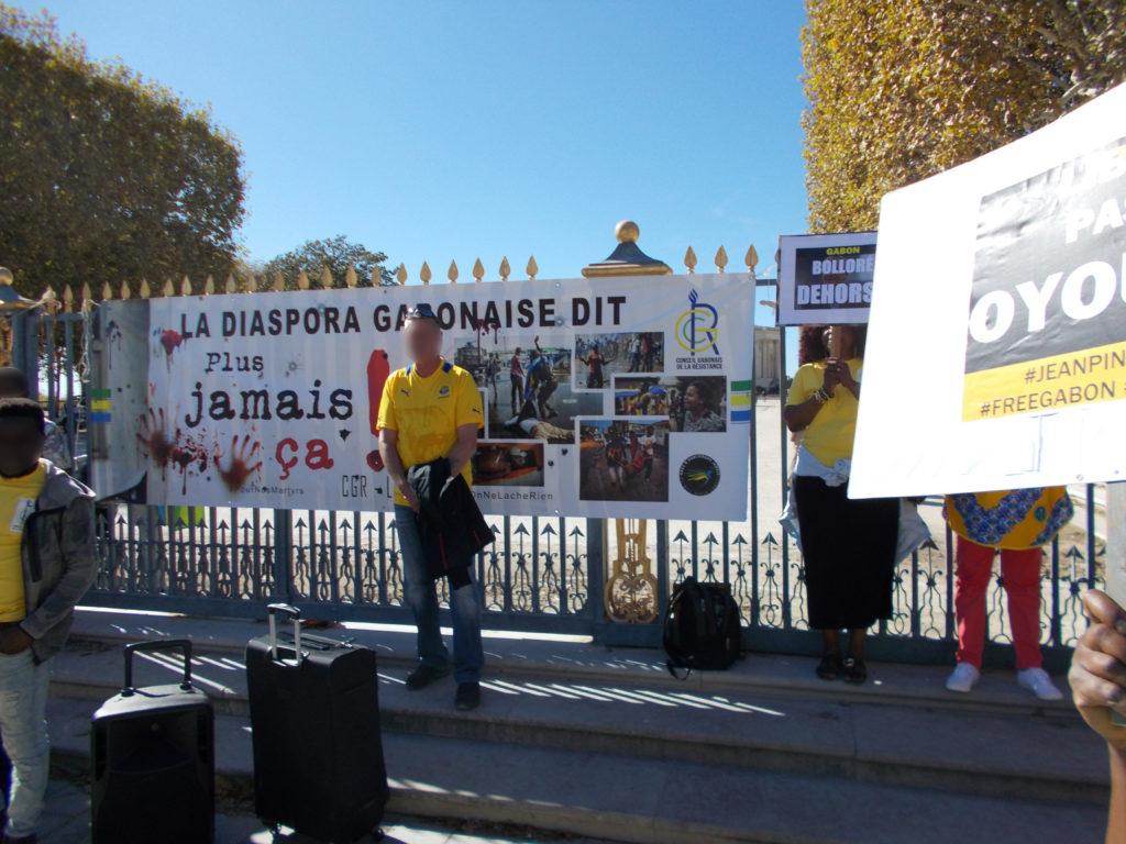 Manifestation pour le Gabon libéré à Montpellier le 7 octobre 2017