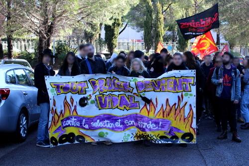 Manifestation contre le plan étudiants à Montpellier (06/03/2018)