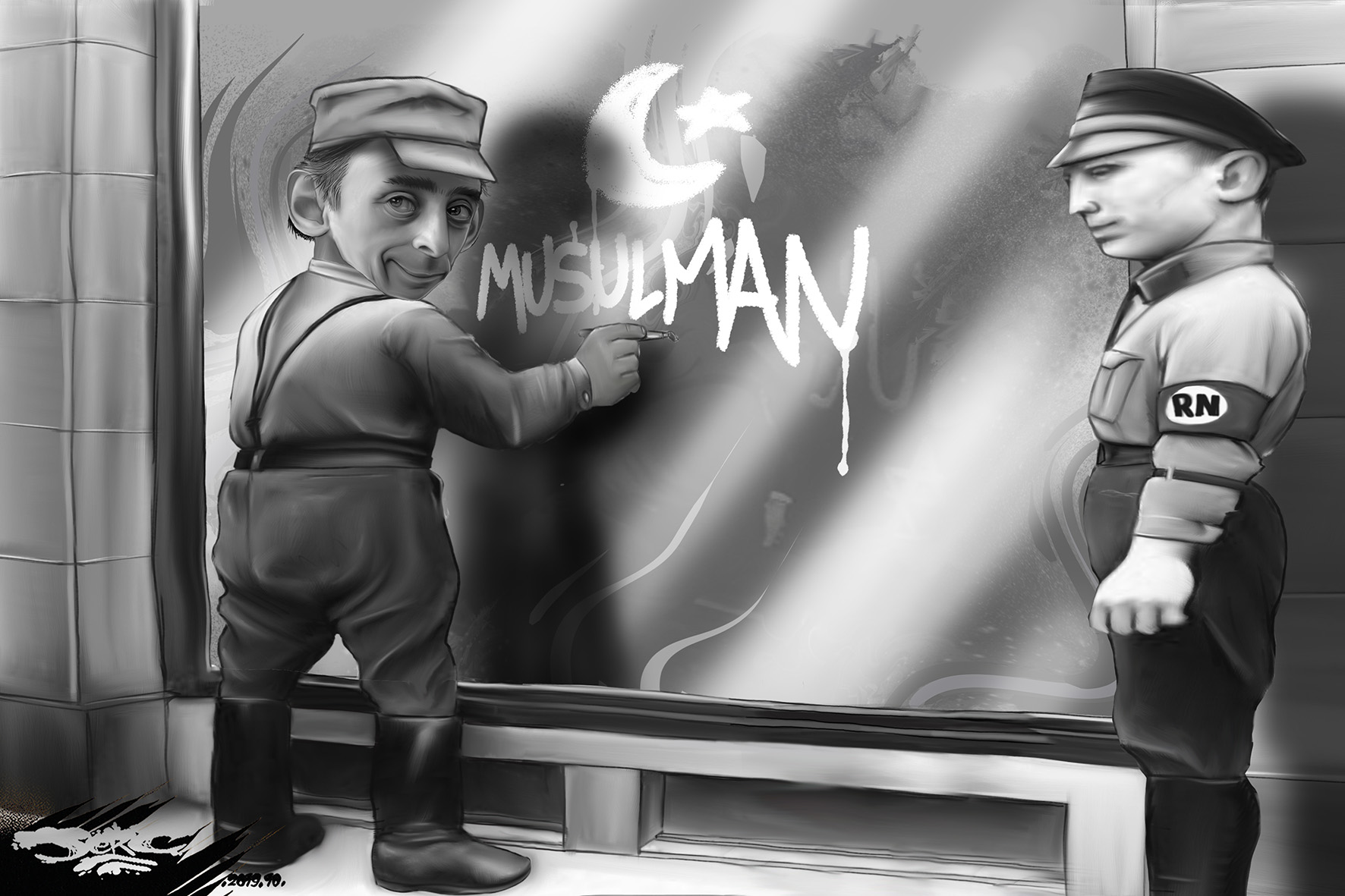 Zemmour-oire de la tolérance (dessin) - Le Poing