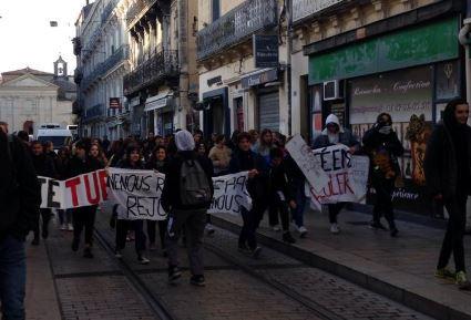 Montpellier : les lycéens de Clémenceau se mobilisent sous la surveillance étroite de la police