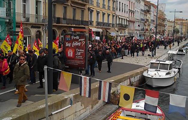 Sète : 1500 manifestants contre les retraites, du jamais vu depuis 2010